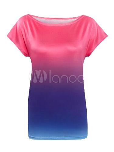 Ombre Bateau Short Sleeve T-shirt