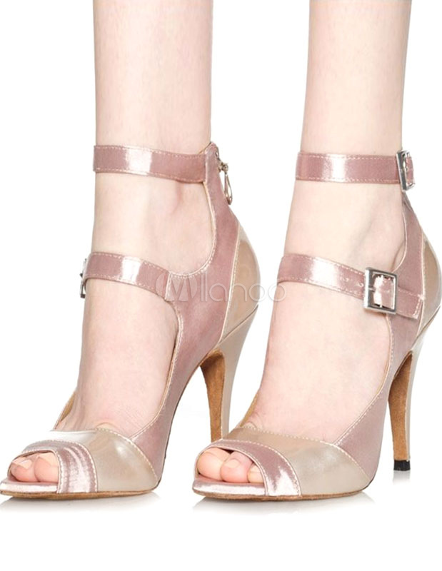 Buy Ballroom Dance Shoes Dance Dancing Shoes Women's High Heel Ballroom Shoe Ankle Strap for $33.24 in Milanoo store