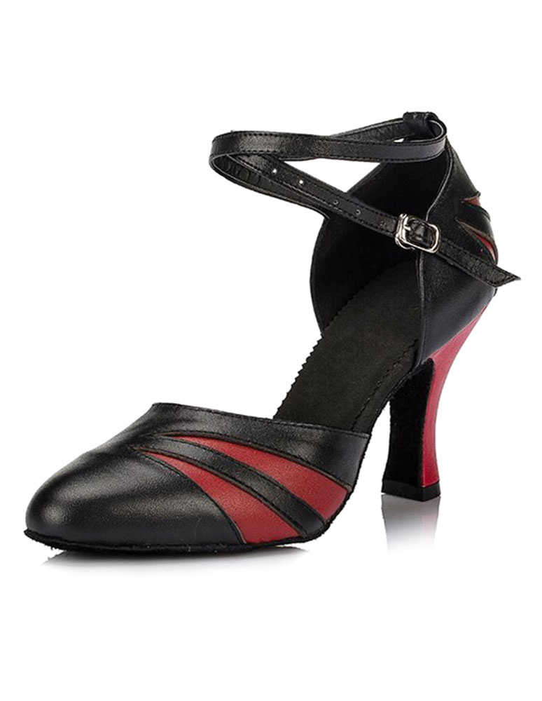 Ballroom Dance Shoes 2018 Women Ankle Strap Pointed Toe High Heel Dance Shoes
