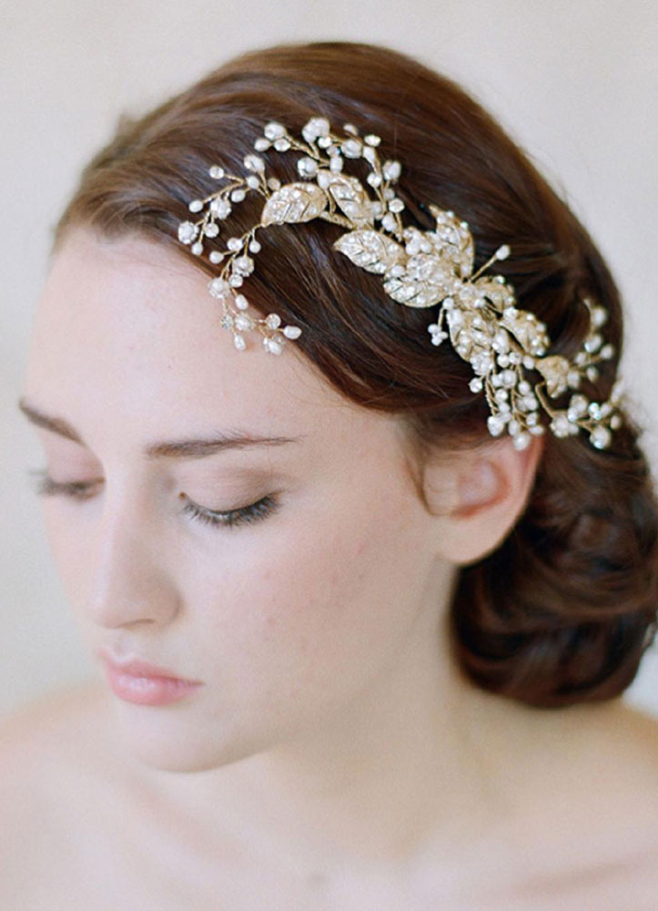 Bridal Wedding Headpieces Rhinestone Tiara Flower Headband( 19 Cm X 9 Cm)