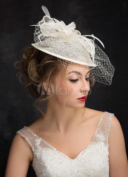 65da8733ea Tiara novia jaula velo tocados de boda sombrero - Milanoo.com