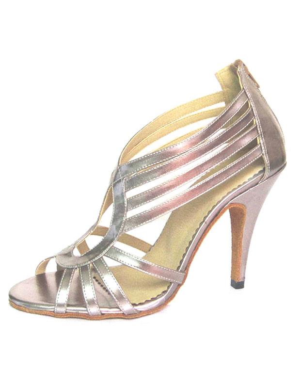 Peep High Heel Sandals Women's Back Zipper Stiletto Ballroom Dance Shoes