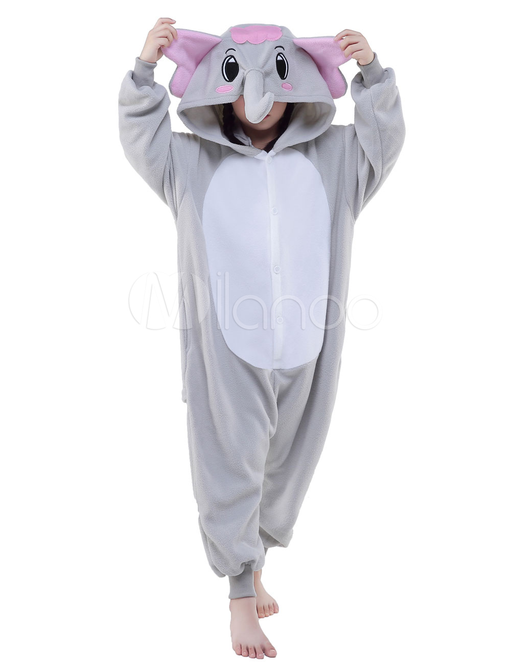 Kigurumi pajamas elephant onesie childrens flannel animal onesie sleepwear costume halloween - Pyjama elephant ...
