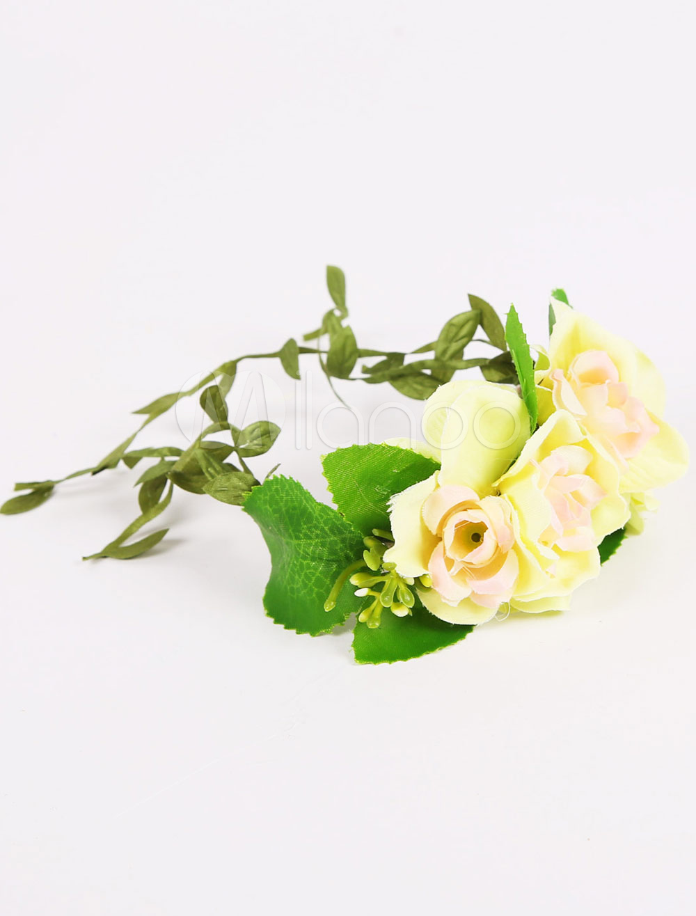Buy Wedding Bridesmaid Flower Wrist Corsage Evening Silk Prom Flower (8 X 12 X 5 Cm ) for $3.99 in Milanoo store