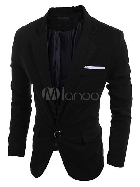 Casual Men Blazer Back Split Suit Jacket Cotton Blazer For Men