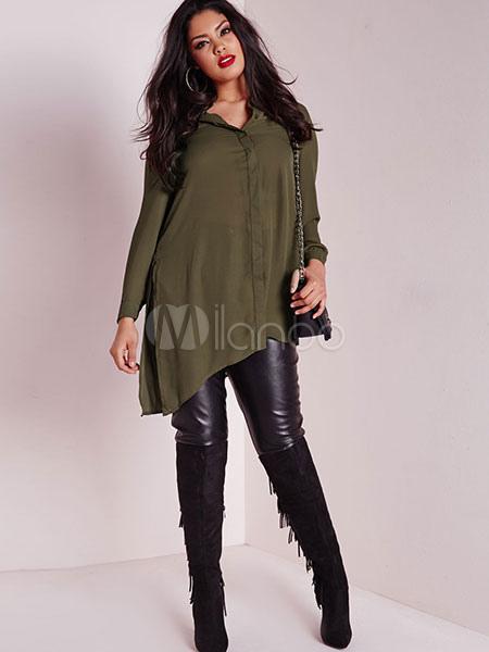Camisetas Mujer Irregular Casual Larga No 1 Diseño Manga Blusas Verde vBaqS4w