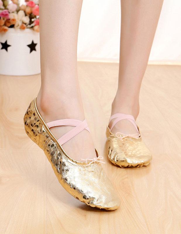 Ballet de las mujeres zapatos de baile de Criss-Cross Slip-on ovalada hqBHEkLy