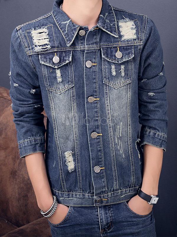 Jeans Giacca Di Di Giacca Consumata Uomo kwOP80n