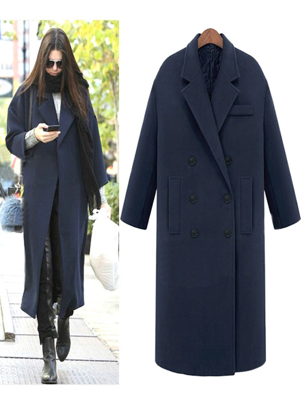 Overcoat Women Long Trench Coat Oversized Winter Wrap Coat Cheap clothes, free shipping worldwide