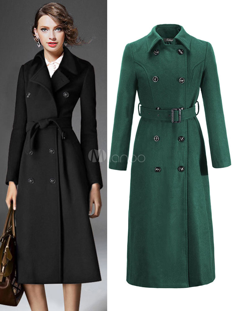 Trench Women Coat Wrap Coat Long Sleeve Winter Overcoat For Women ...