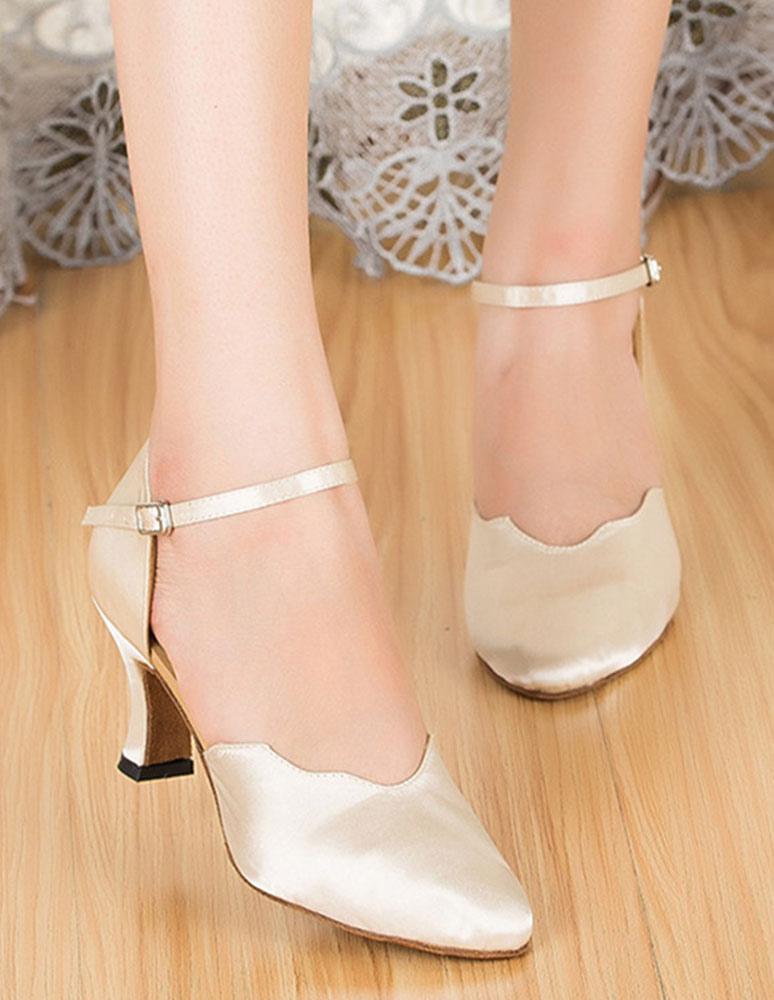 De las mujeres zapatos de correa tobillo zapatos de salón de baile del alto talón de la estilo d ' Orsay SQkjhBB