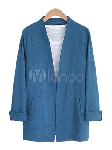 Women White Blazer Spring Jacket Long Sleeve Open Front Casual Blazer Cheap clothes, free shipping worldwide