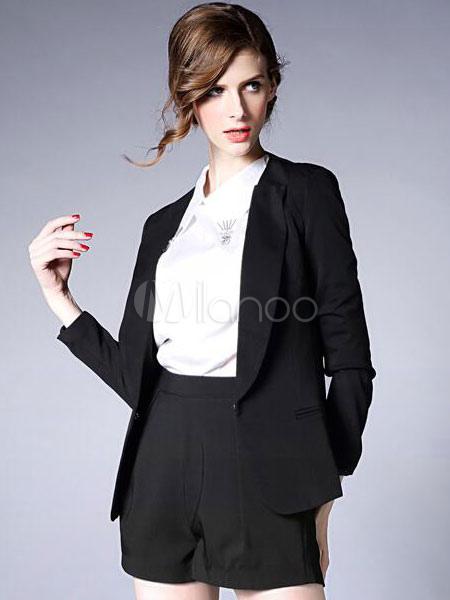 a7fbbd474afa ... Blazer blu giacca tasche manica lunga vestito elegante per le donne-No.2  ...