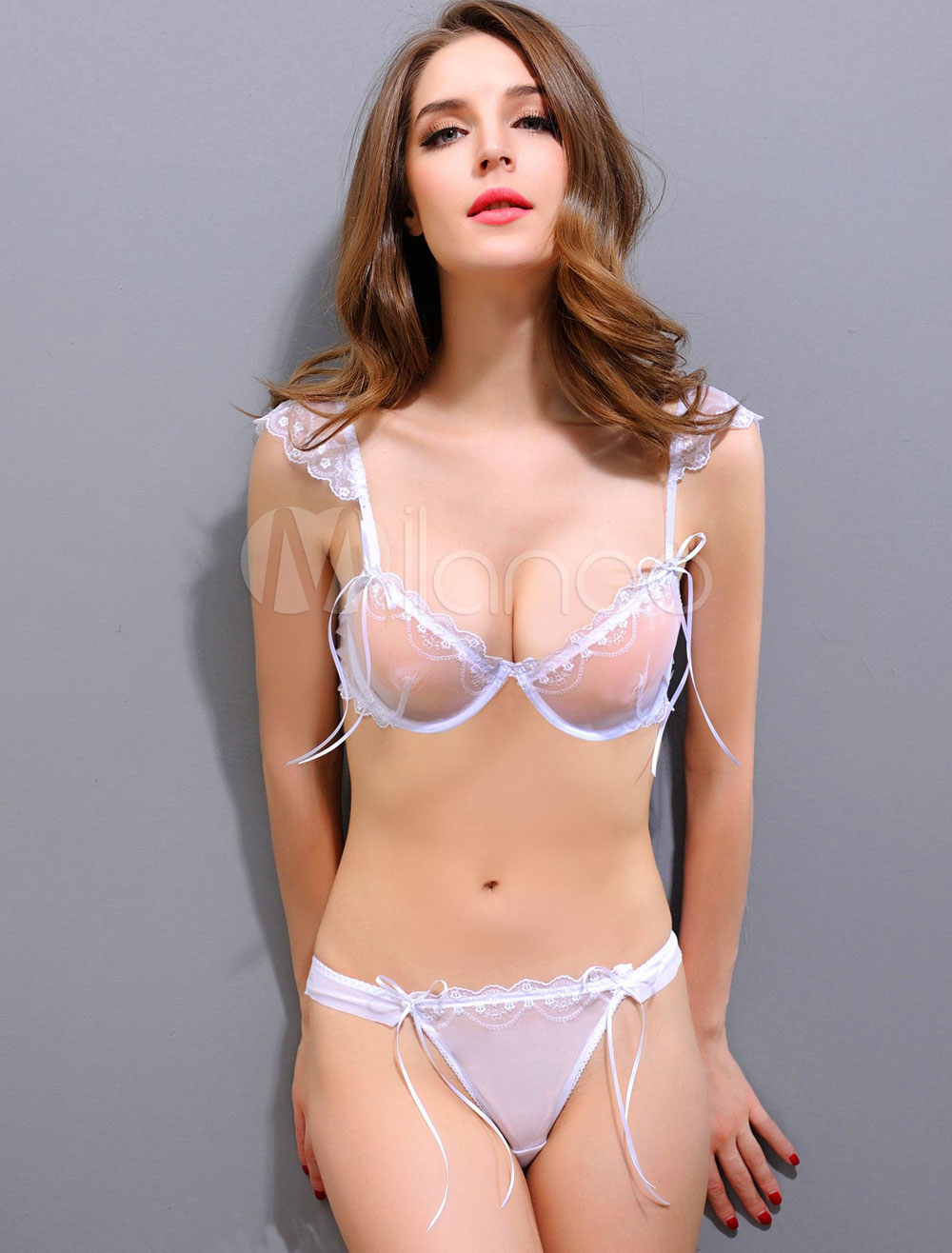 Agree with girls in sheer bra and panties can