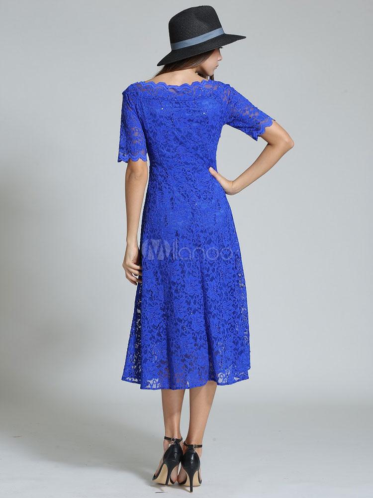 Kleid royal blau spitze