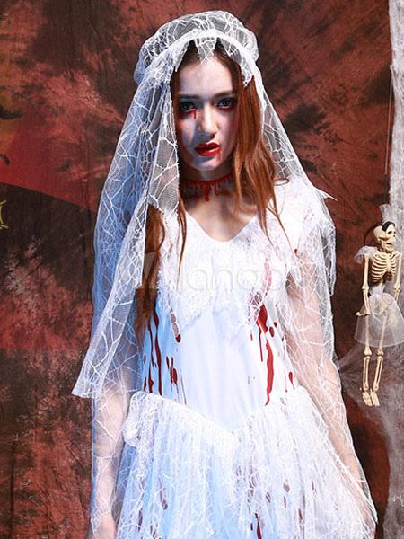 Halloween costumes corpse bride vampire women 39 s white for Corpse bride wedding dress for sale