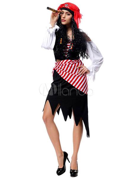 halloween piratenkost m halloween kost me pirat frauen outfit cosplay mit piraten per cken. Black Bedroom Furniture Sets. Home Design Ideas