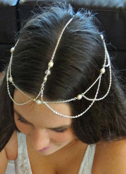 Boho Head Jewelry Wedding Chains Silver Alloy Bridal Hair Accessories