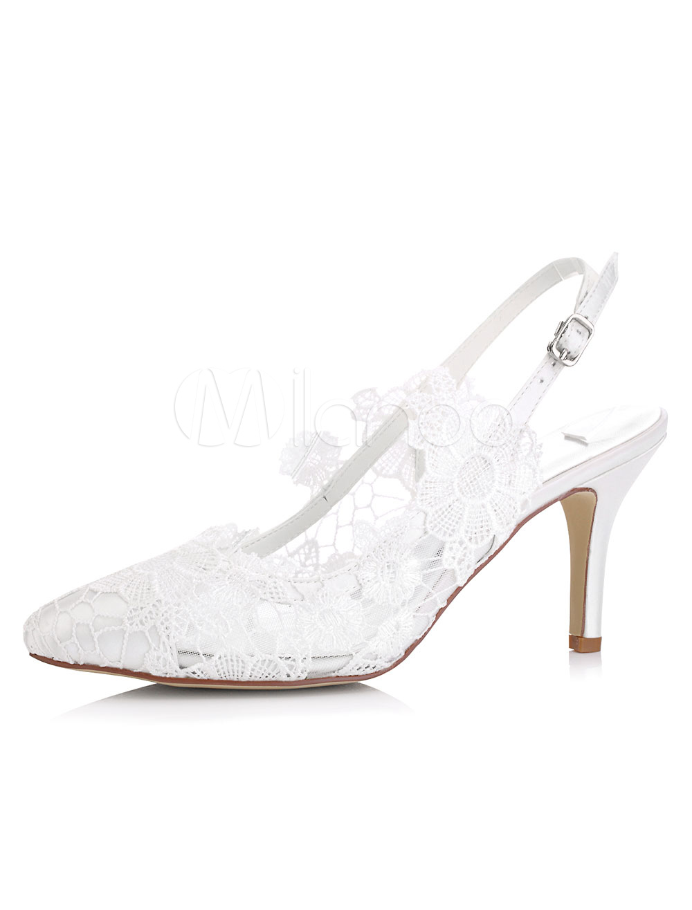Lace Wedding Shoes.Lace Wedding Shoes Kitten Heel Pointed Toe Flower Satin Bridal Shoes
