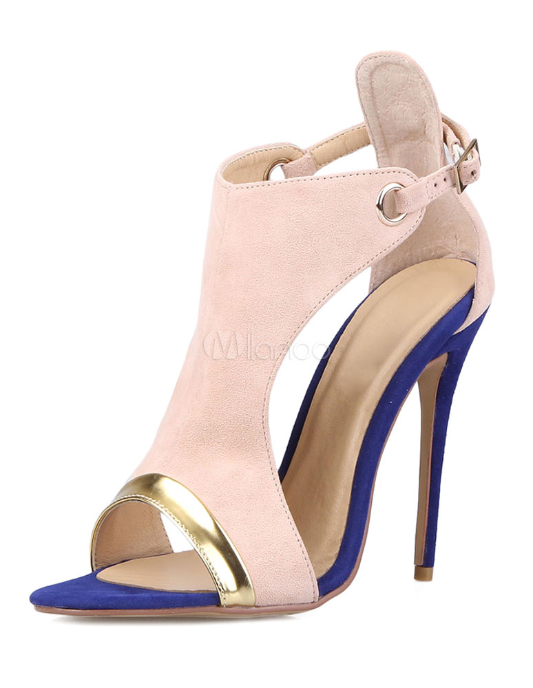 Buy High Heel Sandals Women's Open Toe Ankle Strap Stiletto Sandals for $48.99 in Milanoo store