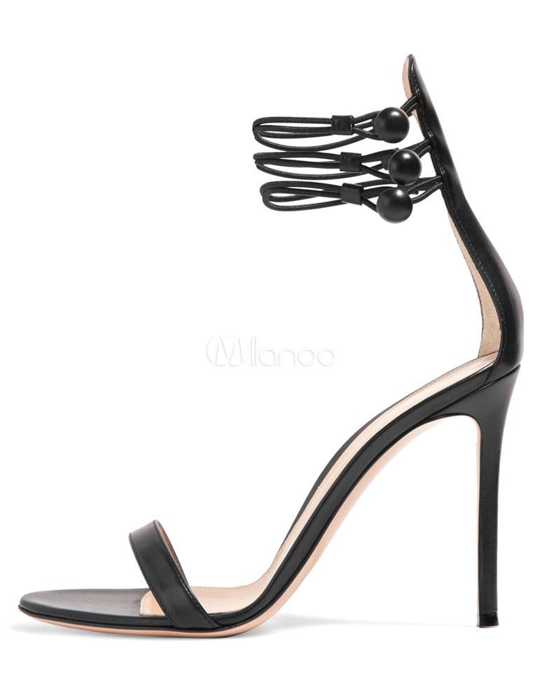 Sposa Alla Cinturino Sandali Alto Open Tacco Caviglia Da Neri Sexy N8n0mvw