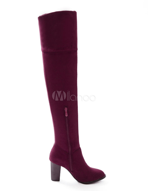 Botas sobre la rodilla Piel sintética Color liso estilo moderno l6ozZBjB
