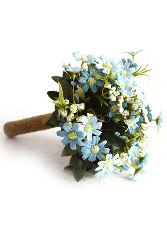 Buy Wedding Flower Bouquet Silk Flowers Hand-tied Bridal Bouquet for $14.99 in Milanoo store