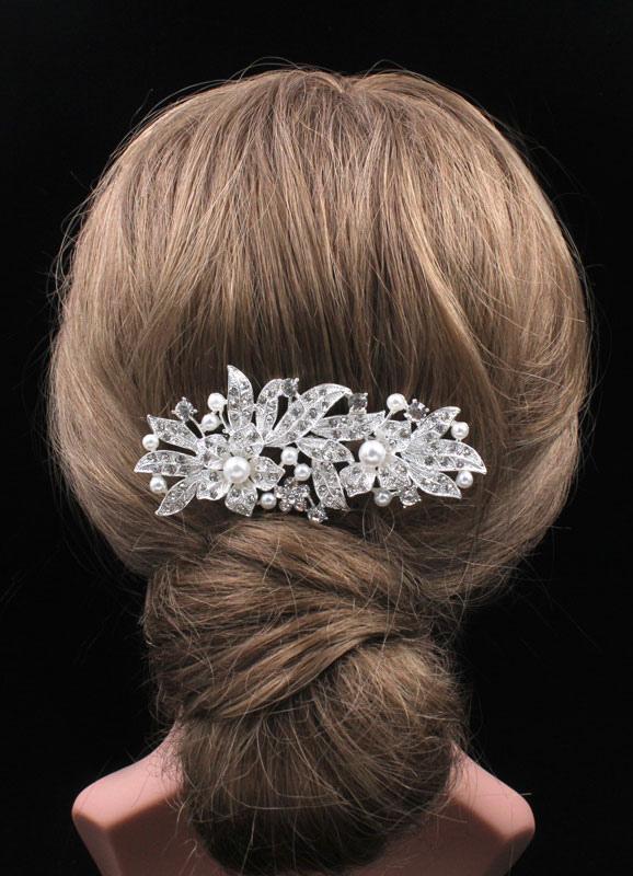 Wedding Hair Combs Imitation Pearls Rhinestones Bridal Hair Accessories