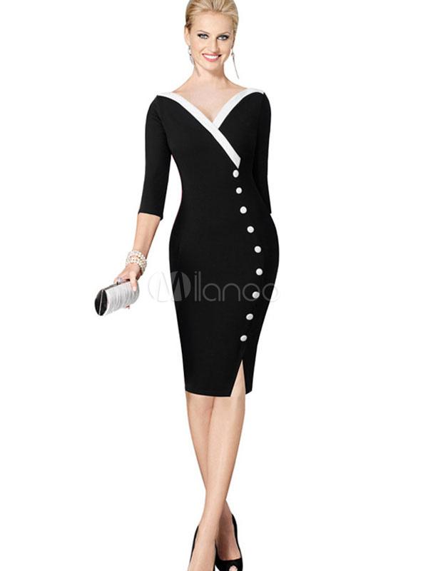 Elegante kleider mit schlitz