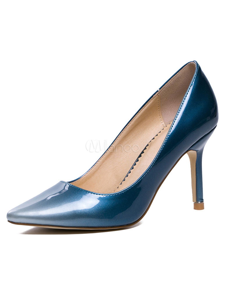Blue High Heels Pointed Toe Ombre Pumps For Women