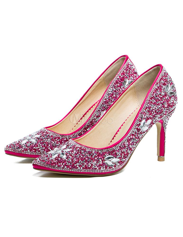 Zapatos de novia Tela-brillantes de lujo HgFP3D4oAM