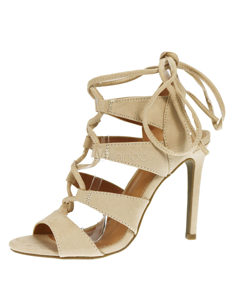 gladiator sandalen high heel wildleder damen sandale schn rschuhe schwarz. Black Bedroom Furniture Sets. Home Design Ideas