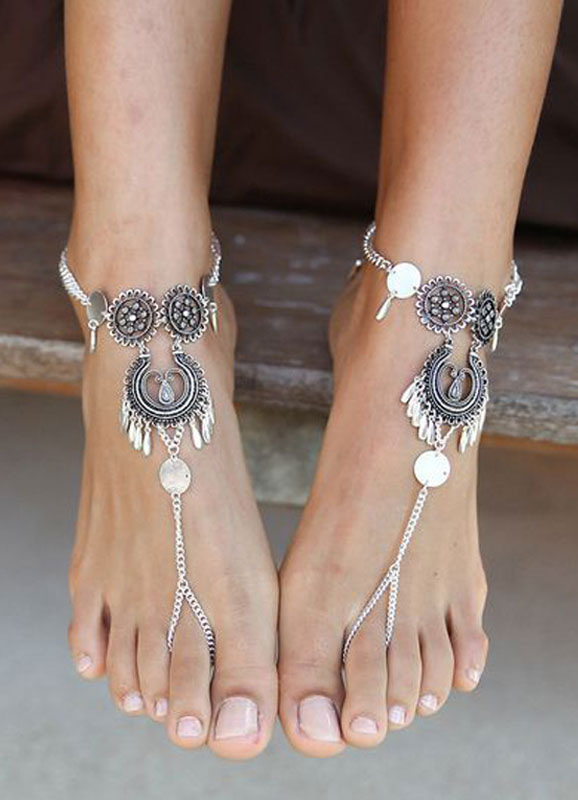 Buy Beach Wedding Shoes Bohemian Silver Ankle Bracelet for $17.99 in Milanoo store