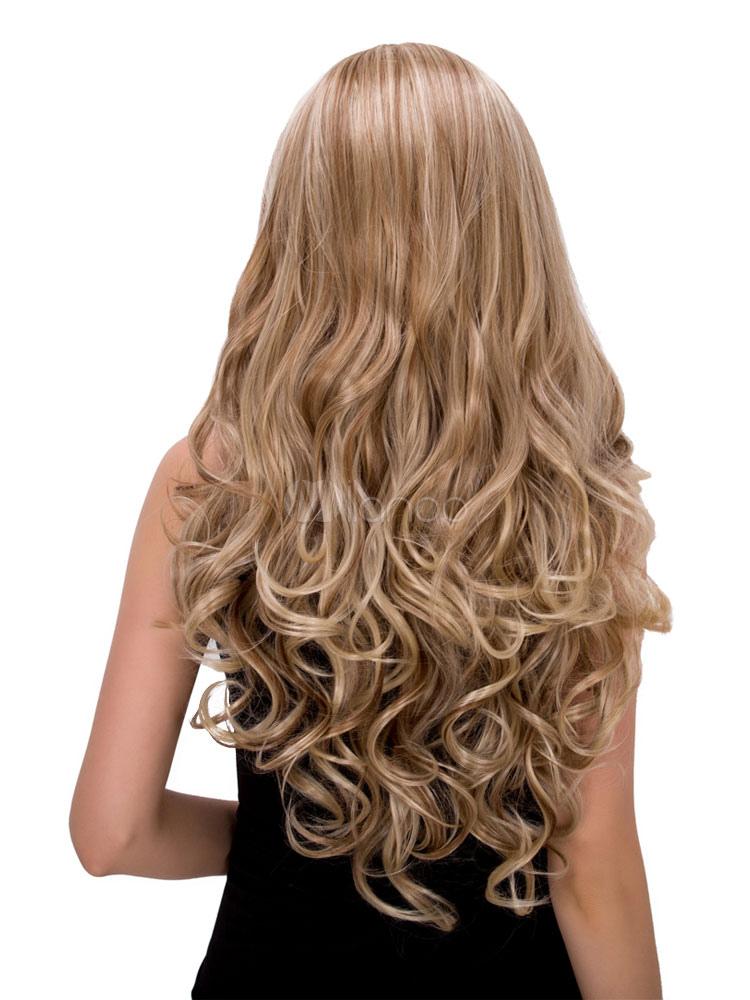 lockige blonde haare - trends frisuren