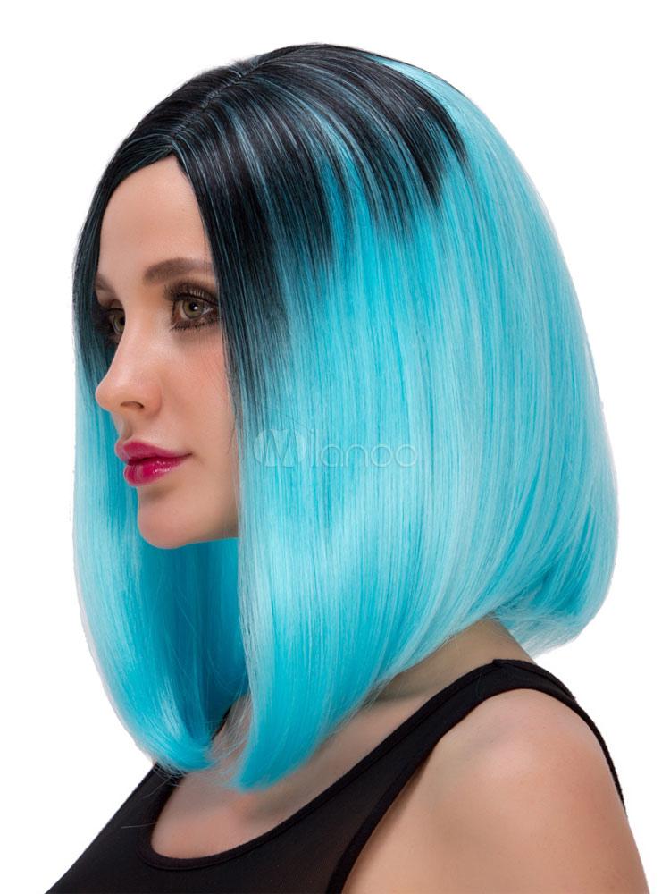 Pelo de color azul celeste