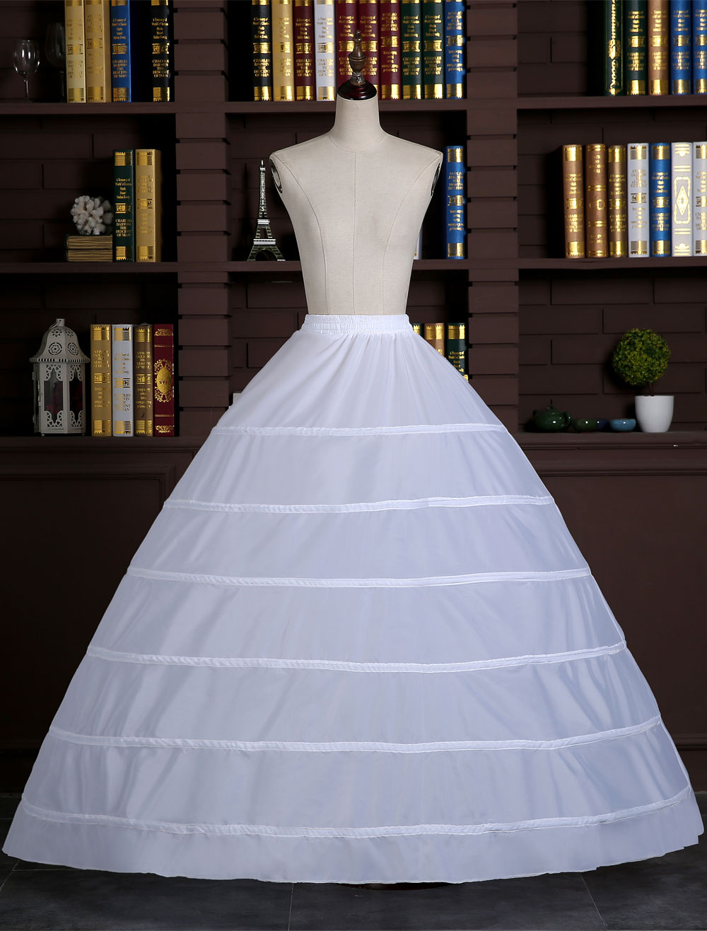 8c120db3a237 ... White Wedding Petticoat Ball Gown Slip 1 tier Bridal Hoop Skirt-No.3. 1.  50%OFF. Color:White