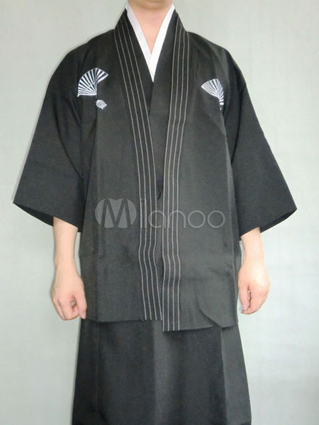 Halloween Kimono Costume Mens Traditional Japanese Samurai