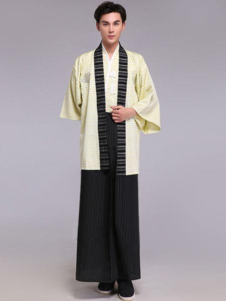 Costume di fan nappe a strisce Samurai Carnevale Kimono Costume maschile  vestito-No.1 ... 4ea341b314d