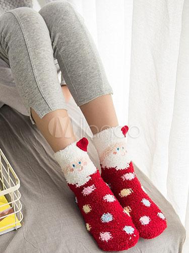 Christmas Women's Socks Wool Blend Cartoon Animal Winter Hosiery Cheap clothes, free shipping worldwide