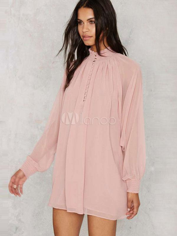 Pinkes kleid langarm