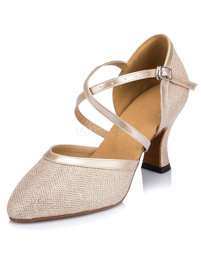 Zapatos de bailes latinos Tela-brillantes color liso estilo moderno eKg2n4nSsk