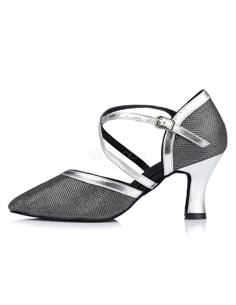 Zapatos de bailes latinos Tela-brillantes color liso estilo moderno ihLpuD8G3