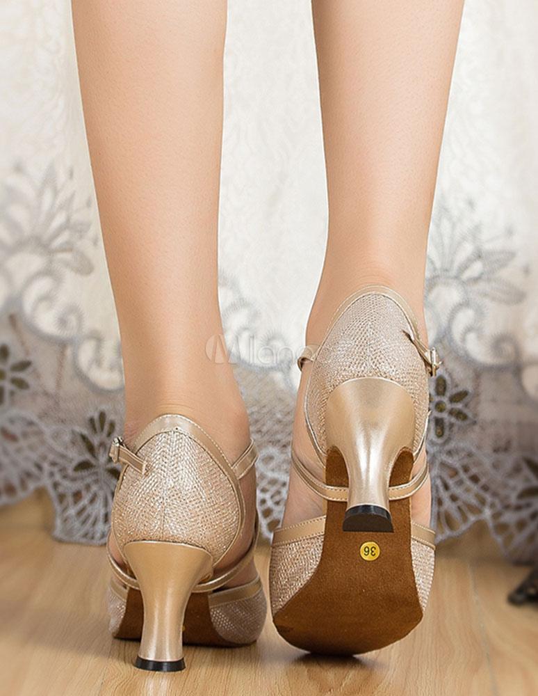 Zapatos de bailes latinos de tela brillante Color liso 4fqN5Io