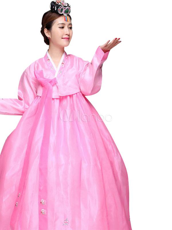 Halloween traje coreano antiguo Vestido de las mujeres satén etapa ...