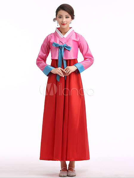 Holloween koreanische Tracht Hanbok Frauen traditionelle Gericht ...