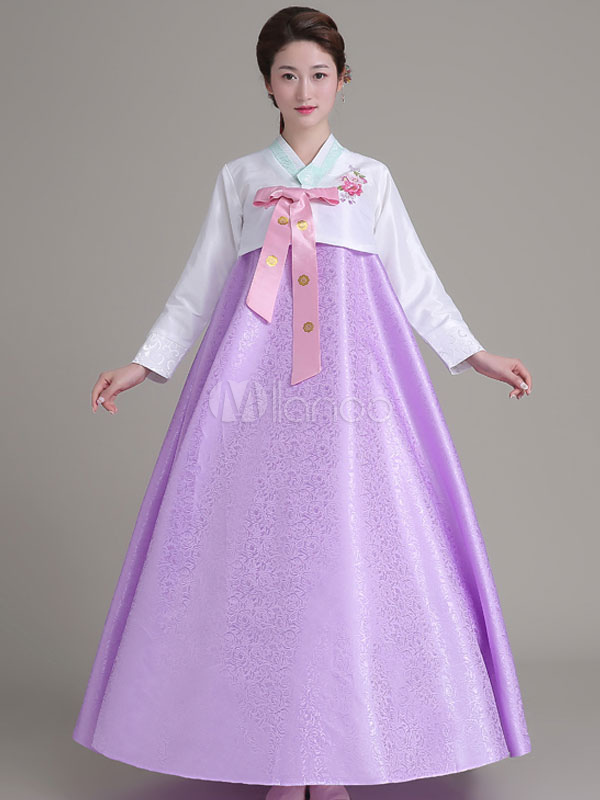 Buy Halloween Korean Costume Hanbok Long Skirt Top Set For Women for $38.39 in Milanoo store
