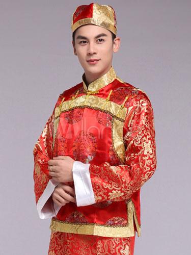 Karneval chinesische Kostüm schickes Partykleid rot traditionelle ...