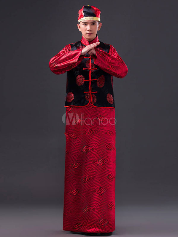 c667d454c6957 Halloween Chinese Costume Fancy Party Dress Red Ancient Emperor Prince  Baylor Cloud Gown Set In 3 ...