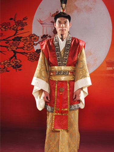 vari stili davvero comodo sconto più votato Han antico imperatore/Principe/Ministro Robe Costume vestito Carnevale  Costume maschile cinese