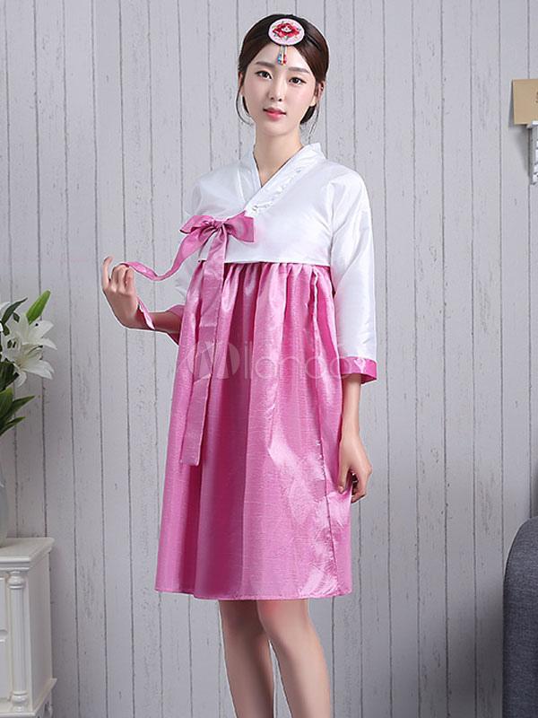 Lazo Crepe abrigo vestido conjunto halloween traje Coreano Vestido ...